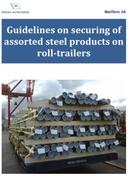 Guideline for Steel Products on Rolltrailer