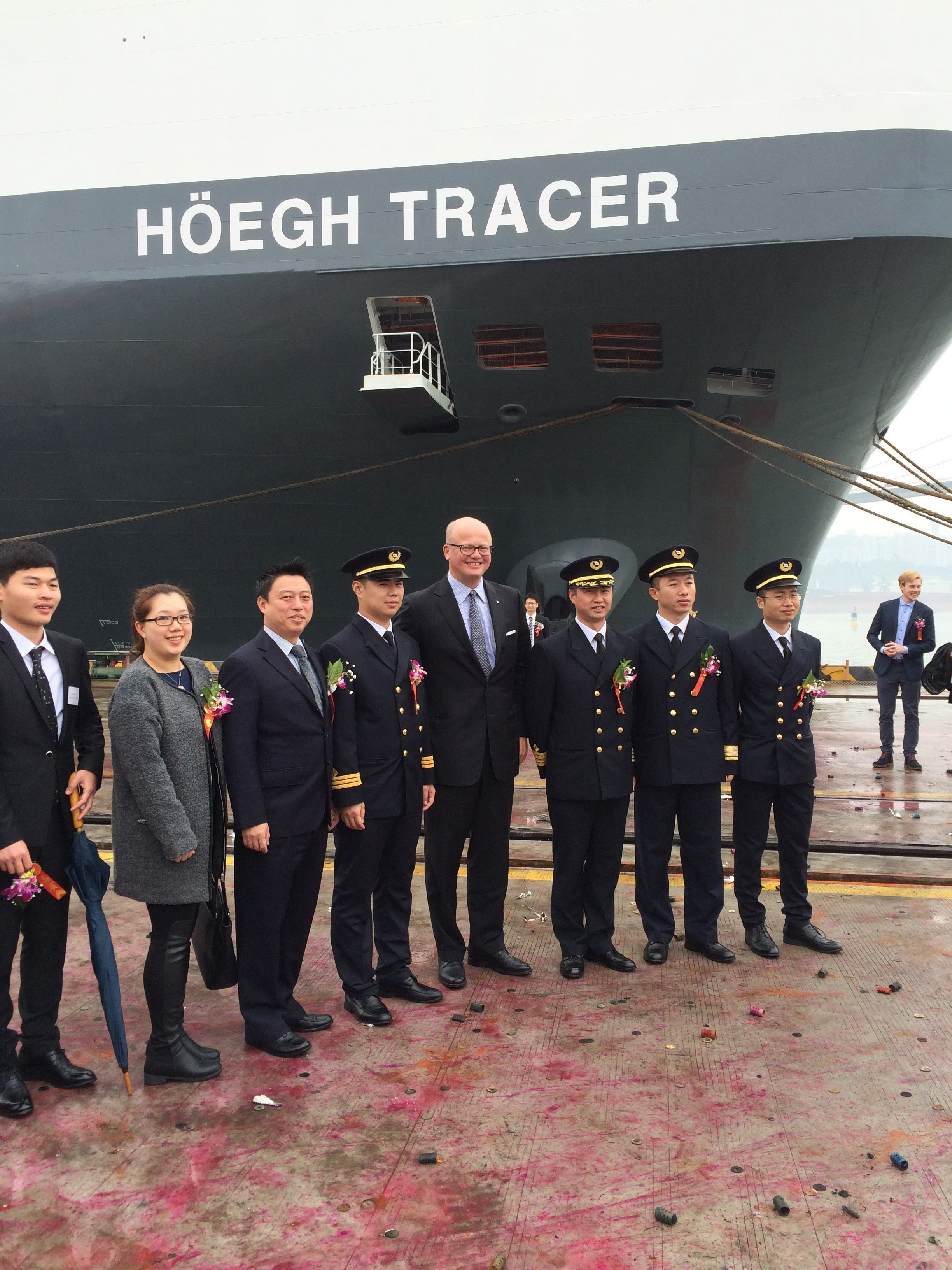Leif Høegh attending the Naming of Höegh Tracer in China